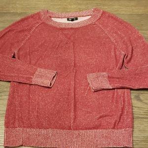 Brick red crewneck sweater